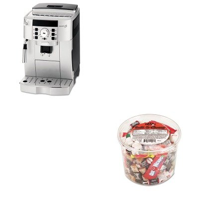 KITDLOECAM22110SBOFX00013 - Value Kit - Delonghi Super Automatic Espresso and Cappuccino Maker (DLOECAM22110SB) and Office Snax Soft amp;amp; Chewy Mix (OFX00013)