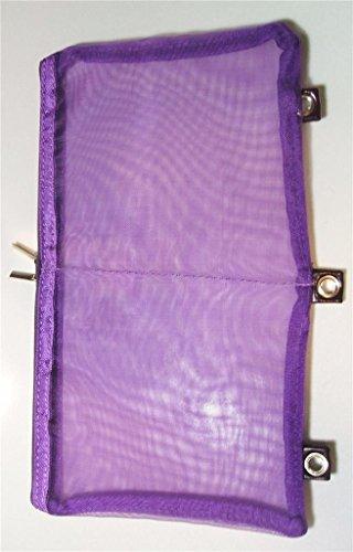 Namaste BYOB Build Your Own Binder Color Eggplant Mesh Page Pocket Bag from Namaste