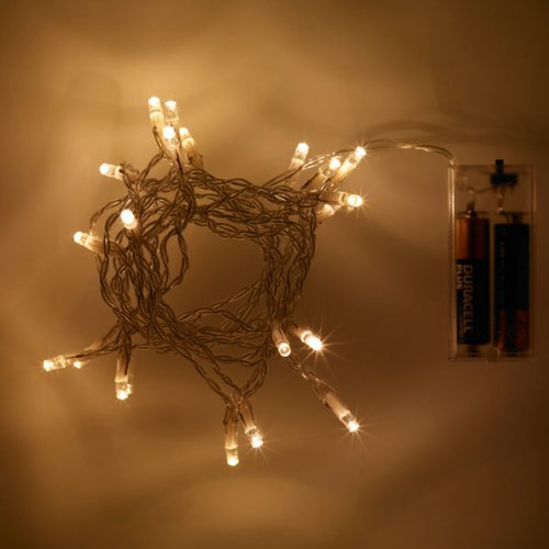 Sale alerts for  Battery Operated LED Fairy Lights, Warm White 20 Bulb Static by Lights4fun - Covvet