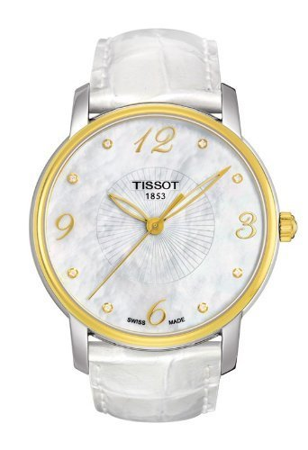Tissot Lady Round Trend White Mother of Pearl Ladies Watch T0522102611600