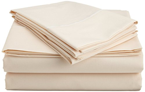 Sale New 4-Piece Sheet Set With 15'' Deep Pocket Olympic Queen Size Ivory Solid, Soft 800 Thread Count Egyptian Cotton! front-1057933