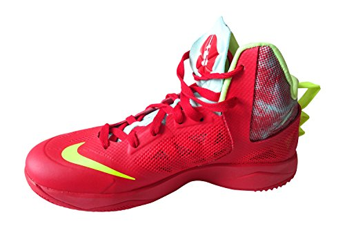 new style 10de1 5fbee nike zoom hyperfuse 2013 mens hi top basketball trainers 615896 sneakers  shoes (uk 7.5 us 8.5 eu 42, challenge red volt ice glacier 674)