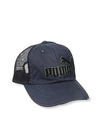 PUMA Men's Frat Tuck Washed Snapback Hat, Blue