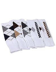 Mikado White Colour Cotton Full Lenght Socks for Men - 3 Pair Pack