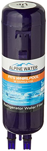 Alpine Water F17 Replacement Cartridge Premium Filter for Whirlpool Refrigerator W10295370 and Kenmore 469930 (Premium Refrigerator Filter compare prices)