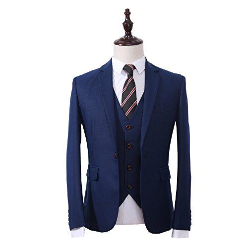 Mens-Classic-3-Piece-Navy-Suit-Slim-Fit-One-Button-Solid-Color-Tuxedo-Suit