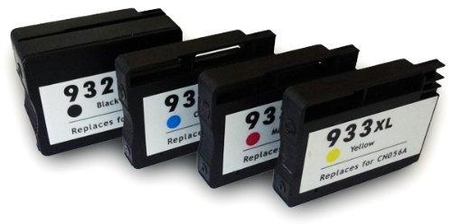 4 Druckerpatronen kompatibel für HP 932XL HP933XL Set