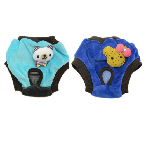 Alfie Pet Apparel By Petoga Couture - Elli Diaper Dog Sanitary Pantie 2-Piece Set - Colors: Blue And Turquoise, Size: Small (For Girl Dogs) front-974063