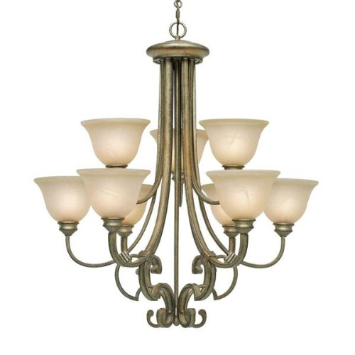 Cheap Nine Light Up Chandelier