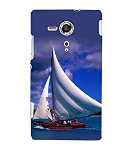 printtech Water Ship Sailing Back Case Cover for Sony Xperia SP::Sony Xperia SP M35h