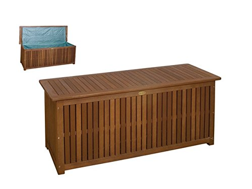 massive auflagenbox holz mit innentasche kissenbox gartenbox hartholz. Black Bedroom Furniture Sets. Home Design Ideas