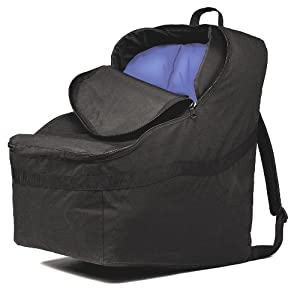 JL Childress Ultimate Car Seat Travel Bag, Black