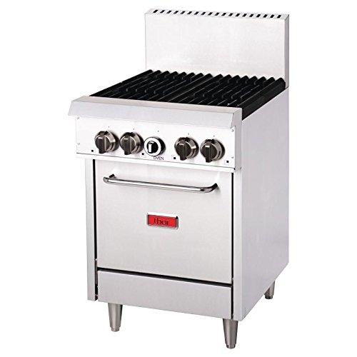 Heavy Duty 4 Burner Natural Gas Oven Range Commercial Kitchen Restaurant Cafe