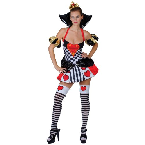 Sexy Wicked Queen of Hearts Fancy Dress Costume XL