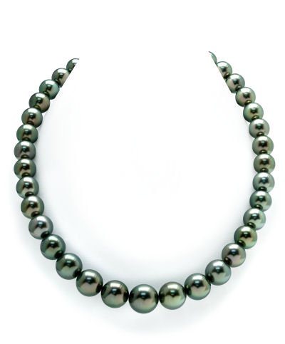 10-12mm Peacock Tahitian South Sea Pearl Necklace