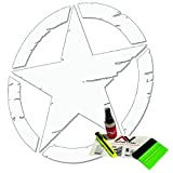 Distressed Oscar Mike Freedom Edition Star hood decal fits jeep wrangler and all other jeep models universal fit 19