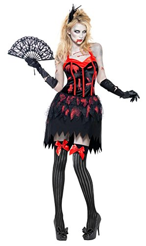 Fever Women's Zombie Burlesque Costume Dress with Blood