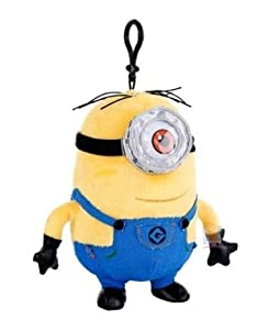 Despicable Me 2 Plush Clip-On Minion Stuart,soft, dog ...