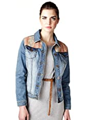 Limited Collection Pure Cotton Embroidered Denim Jacket