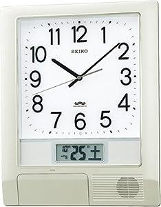 SEIKO CLOCK (セイコークロック) 掛け時計 プログラムクロック 電波時計 ツイン・パ PT201S