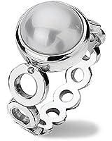 Hot Diamonds - DR110/O - Bague Femme - Argent 925/1000 4.4 Gr - Diamant/Perle - Perle d'eau douce