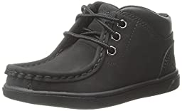 Timberland Groveton Leather Moc Chukka Boot (Toddler/Little Kid/Big Kid), Black, 7.5 M US Toddler
