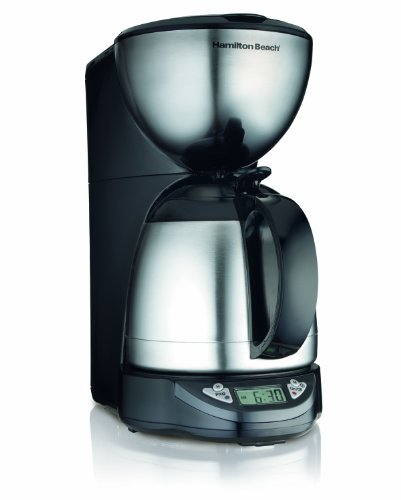 Hamilton Beach 10-Cup Coffee Maker, Programmable with Thermal Insulated Carafe (49855) (Hamilton Beach Large Coffee Maker compare prices)