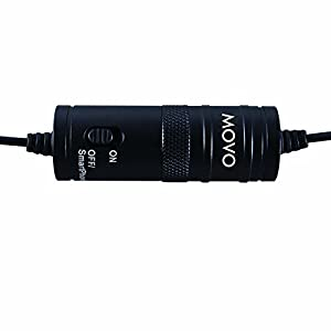 Movo Lavalier Omnidirectional Condenser Microphone with 20' Cable for Canon VIXIA HF R500 & EOS 1D, 5D MK I, II & III, 5DS, 6D, 7D, 60D, 70D, Digital