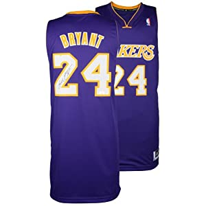 Kobe Bryant Los Angeles Lakers Autographed adidas Swingman Purple Jersey - Mounted... by Sports Memorabilia