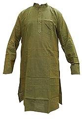 Indiatrendzs Men's Cotton Kurta (Mk-89 _Green _44)