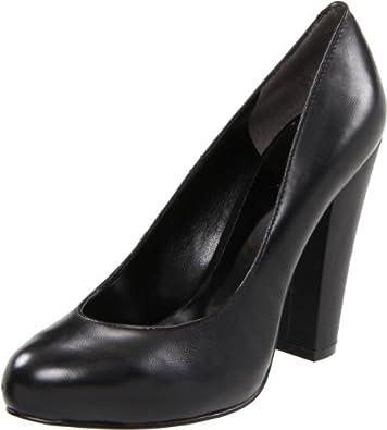 Nine West Women's Devika Pump,Black Leather,7.5 M US