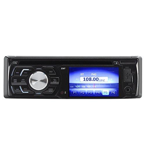 Autoradio DVD LCD TFT 3 pouces - 1 DIN / Sortie 180W / Bluetooth / Port USB / Slot carte SD / Entrée Aux