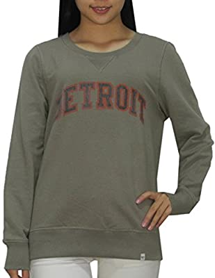 MLB DETROIT TIGERS Womens Athletic Thermal Sweatshirt (Vintage Look)