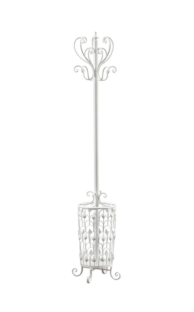 Monarch Specialties I 2043 Antique White Metal Coat Rack, 72