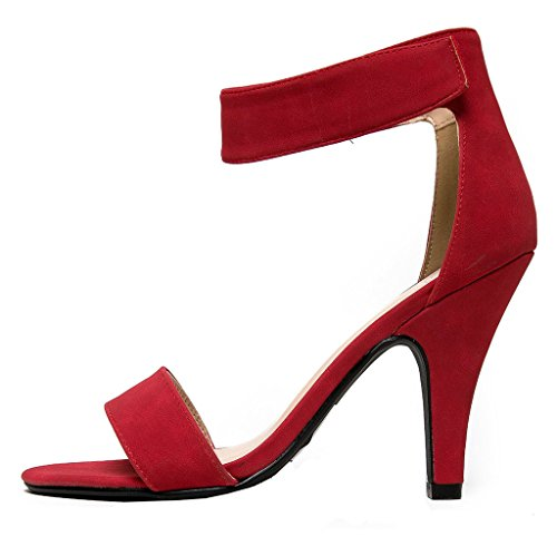 Hecater Women's High Heel Shoes Dress Party Buckle Sandals 13