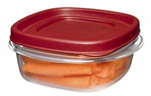 Rubbermaid Easy Find Lids Square 1.25-Cup Food Storage Container (Pack of 4)