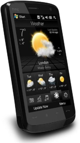 Htc Touch Hd T8282 Unlocked Phone With 5 Mp Camera, International 3G, Wi-Fi, Gps, Windows Mobile 6.1, And Microsd Slot--International Version With No Warranty (Black)