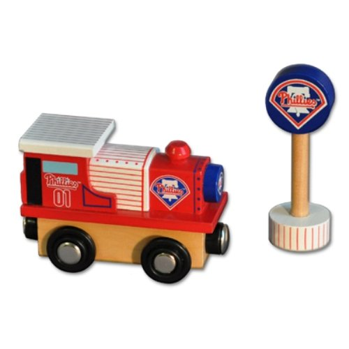MLB Philadelphia Phillies Wood Train - Engine