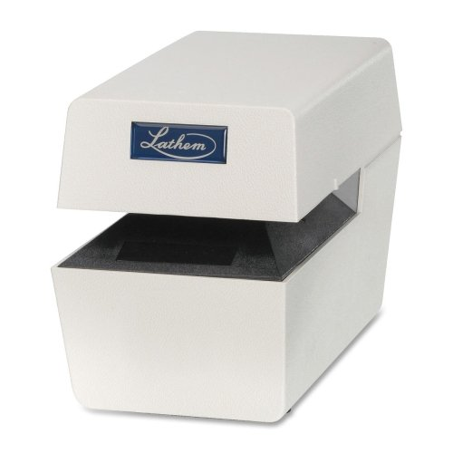 Lathem Heavy-Duty Time/Date Electric Stamp-Time/Date Electric Document Stamp, Heavy-Duty, Cool Color