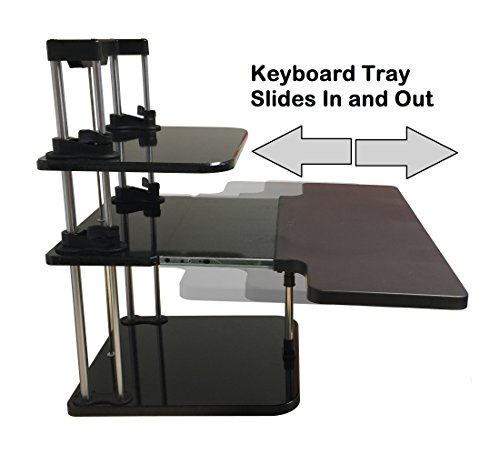 Uptrak Dual Level Sit Stand Desk Riser By Stand Steady