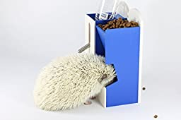 (blue_01)Automatic Small Pet Feeder and Water bottle holder. No necessary electricity. For hedgehogs , hamsters and small pets.