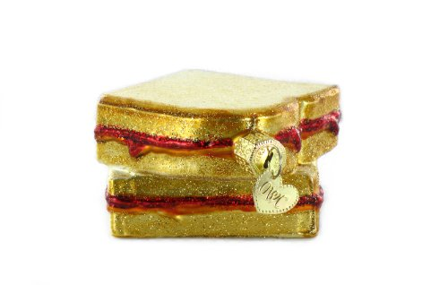 Old World Christmas Peanut Butter & Jelly Sandwich Ornament
