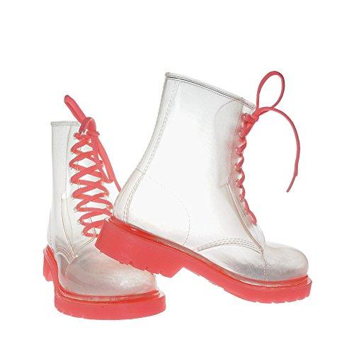 JellyJolly Martin Impermeabile Stivali da Pioggia per le Donne 39 EU Rosa Sole DD11-78-39