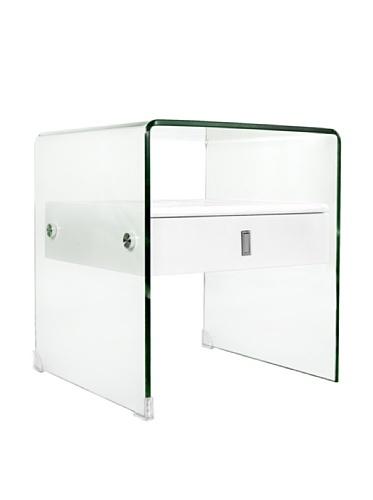 Casabianca Furniture Bari Nightstand, White
