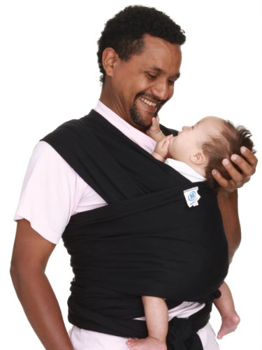 New Moby Wrap Original 100% Cotton Baby Carrier, Black