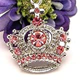 Pink Cross Crown Cell Phone Charm Strap Cubic Stone
