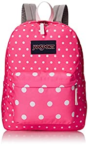 JanSport Women's Superbreak Pink Spots Backpack