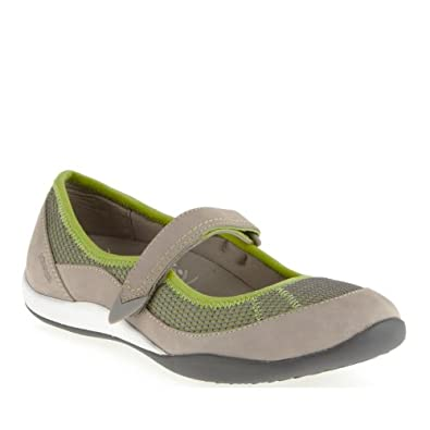 VIONIC with Orthaheel Technology Women's Arcadia Mary Jane Light Grey/Green Gecko Flat 5 M
