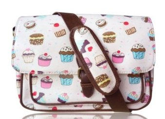 Cupcake Design Mini Crossbody Bag in Light Pink