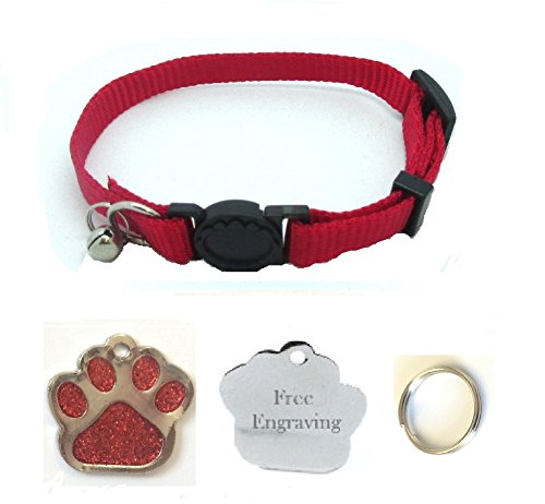 cat-collar-with-bell-quick-release-with-free-engraved-glitter-paw-id-tag-pp-red